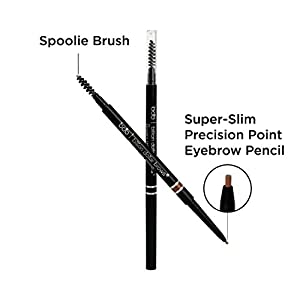 Billion Dollar Brows On Point Waterproof Micro Eyebrow Pencil - Light Brown, Super-fine and Self-sharpening Tip for Natural, Blendable Lines