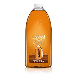 Method Squirt + Mop Wood Floor Cleaner Refill, Almond, 68 Ounce