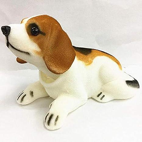 Sacudiendo blanco Beagle En forma de de perro Al ritmo de tablero instrumentos