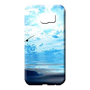 samsung galaxy s6 Protection Bumper Cases Covers For phone phone cases covers sky blue air white cloud