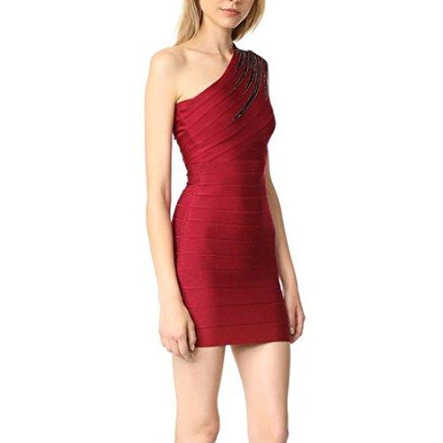 36 Kleid Rot HLBCBG Rot Rot Damen 1Hxnnp