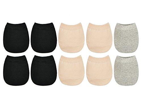 (5 Pack cotton Toe Topper Liner Socks)