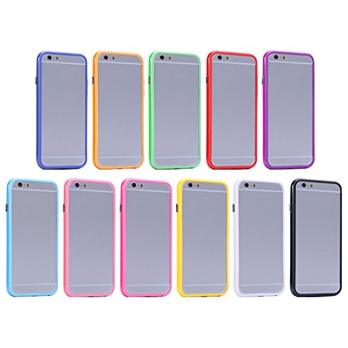 Phone Taschen & Schalen Für iPhone 6 Plus & 6S Plus, reine Farbe Kunststoff + TPU Stoßfänger Fall Fall ( SKU : S-IP6P-0031F )