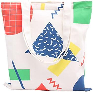 DaoRier 1PCS Bolsa de Tela Lienzo Mujer Bolso de Hombro Algodón de Mano Shopping Tote Bolsas 36 x 40 cm: Amazon.es: Hogar