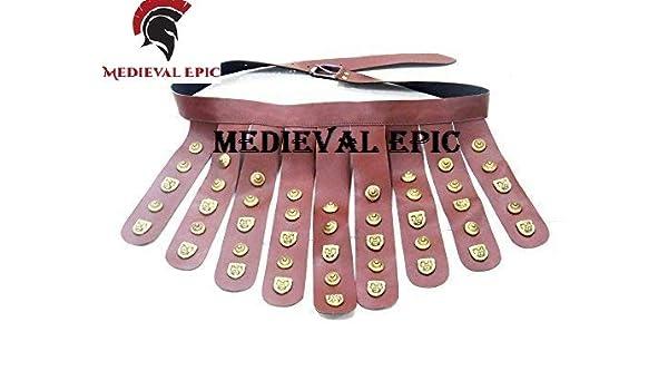 Cinturón de piel épica medieval de color marrón legionario romano ...