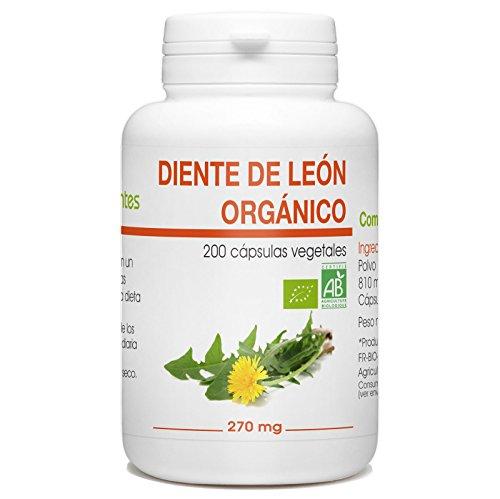 Diente de Leon Organico - 270mg - 200 capsulas vegetales
