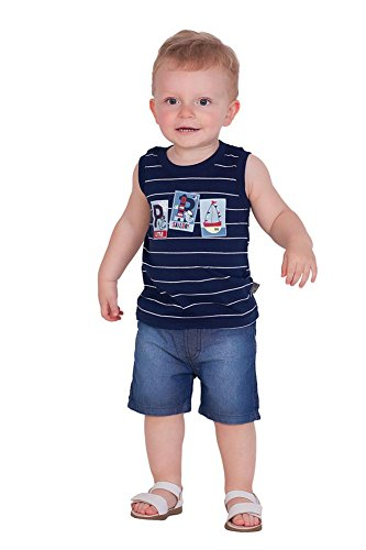 afe162f4fbdf Pulla Bulla Baby Boy Striped Tank Top Sleeveless Shirt
