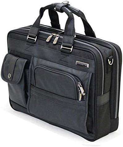 ビジネスバッグ ブリーフケース 2ルームタイプメンズ 肩掛けタイプ ヴィグラス ブラック