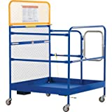 Vestil WP-4848-CA Steel Work Platform, 1000 lb Capacity, 48'' x 48'' with Casters, Powder Coat Blue, not for use in California