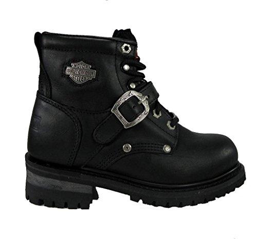 "Harley Davidson Faded Glory 6"" Logger Steel Toe Black Women's Boots 81048 Size 5"