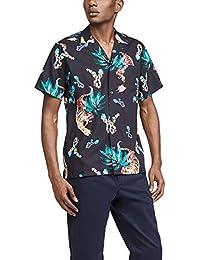 Men's Short Sleeve Hawaiian Tiger Shirt