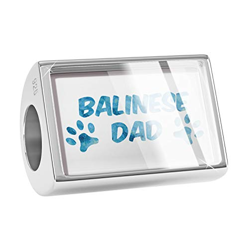 NEONBLOND Charm Dog & Cat Dad Balinese 925 Sterling Silver Bead