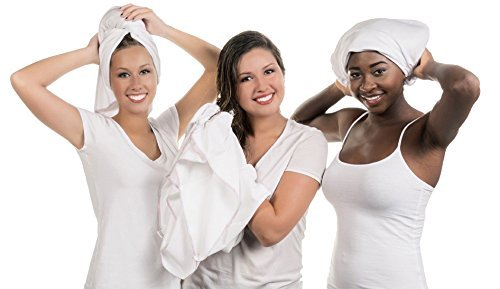 Hair RePear the Ultimate T-Shirt Hair Towel- Wrap, Plop, or Scrunch Your Hair - Absorbent 100% Premium Soft Smooth Cotton Dries Hair Without Causing Damage or Frizz - 74 x 115 cm 001-SLW