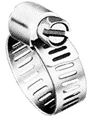 "Precision Brand M6S Micro Seal, Miniature All Stainless Worm Gear Hose Clamp, 5/16"" - 7/8"" (Pack of 10)"
