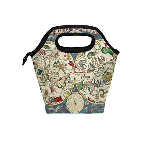 MONTOJ This 17Th Century Map Of The Skies Bursting Wit lunch bag adult Cooler bag Ice Pack
