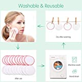 18 Pack Reusable Makeup Remover Pads with 4pcs