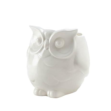 Amazon Home Decor Friendly White Owl Vase Home Kitchen