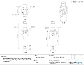 Filter, Regulator & Lubricator Combos No Gauge 1/2 NPT 106 scfm ...