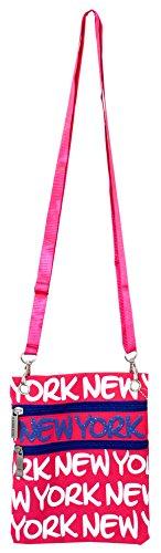 Robin Ruth Kid Girl Women Messenger Cross Sling Bag Fuschia - New Kids Souvenirs York For