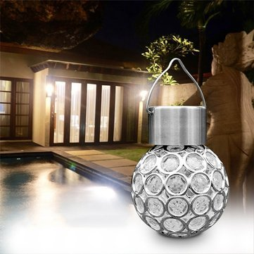 Lights & Lighting - Solar Hanging Led Plastic Ball Bulb Colorful / Pure White Outdoor Garden Yard Path Landscape Decor - Hanging Ball Bulb Colorful - 1PCs (Town Hall 8 Halloween)