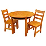 Casual Home Kids Round Table & Chair Set, Pecan
