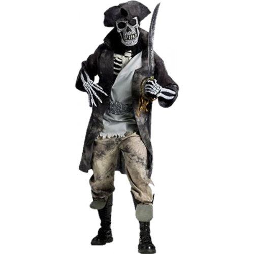 Fun World Men's Ghost Pirate, Gray, STD. Up