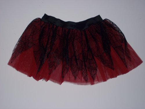Red Black Spider Pointed Tutu Skirt Gothic Petticoat Rave Dance Dress Costume Fancy