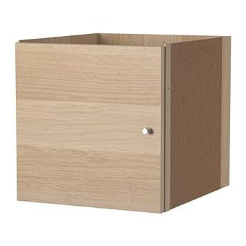Ikea Kallax Einsatz Mit Tür Eicheneffekt Weiß Lasiert 33x33cm