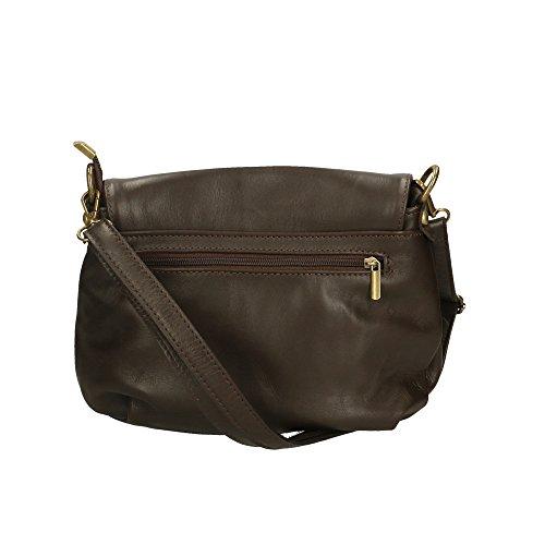 Aren Cm fabriqué sac cuir femme Foncé Brun véritable italie d'épaule en 28x22x5 en pour rrnCfqB