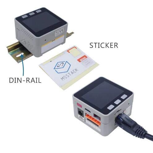 DollaTek M5stack ESP32 Accesorios PLC Prototipo Industrial Lógica programable Magnetófono de relé DIN-Rail Apilable IOT para M5Stack ESP32 Kit, ...