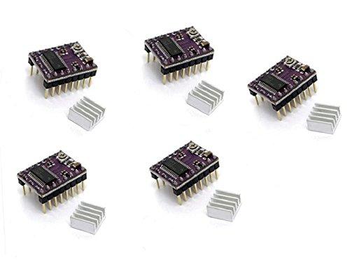 BALITENSEN StepStick DRV8825 Stepper Motor Driver Module Carrier for RAMPS1.4 Board RepRap 3D printer with Heat Sink 5pcs by BALITENSEN