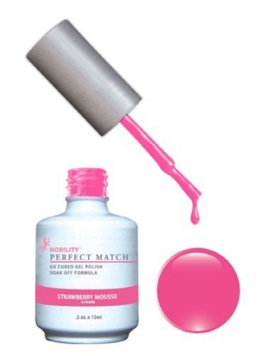 Le Chat Perfect Match Led-Uv Gel Polish Kits - Complete A-Z Collection, Strawberry Mousse -