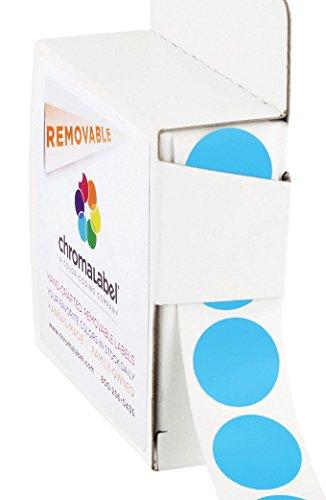 ChromaLabel 3/4 inch Removable Color-Code Dot Labels   1,000/Dispenser Box (Light ()