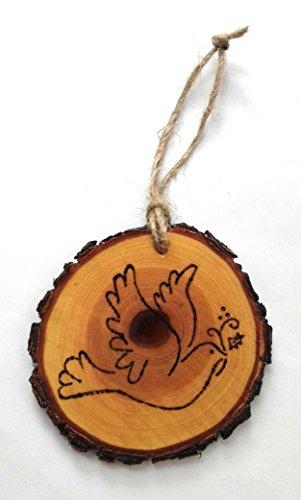 Peace Dove Wooden Wood Burned Christmas (Dove Christmas Tree)