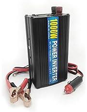 محول للسيارة بقوة 1000 واط يحول من 12 فولت الى 220 فولت مزود بمدخل يو اس بي متوافق مع أجهزة اللاب توب والكاميرا والهاتف وكل ما يعمل علي 220 فولت لون أسود