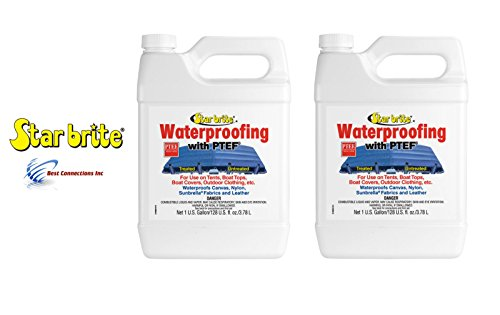 (Star Brite 2 Pack 81900 Fabric Waterproofing w/PTEF Tent Boat Cover 2 Gal)
