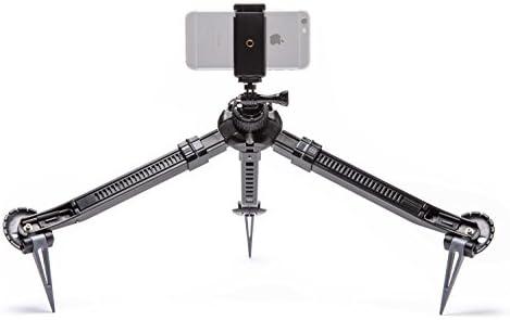 PAKPOD Bundle – Packable Tripod for Mirrorless, DSLR, GoPro, Smartphone VR 360 Cameras Bundle with Universal Smartphone, iPhone, GoPro, Action Video Camera Mount Kit