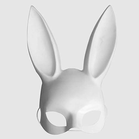 Lubier Máscara de Orejas de Conejo de Máscara de Disfraces Adultos para la Fiesta de cumpleaños