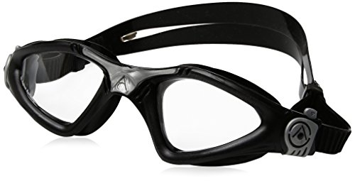 Aqua Sphere Kayenne Goggle With Clear Lens, Black/Silver, - Triathlon Goggles Amazon