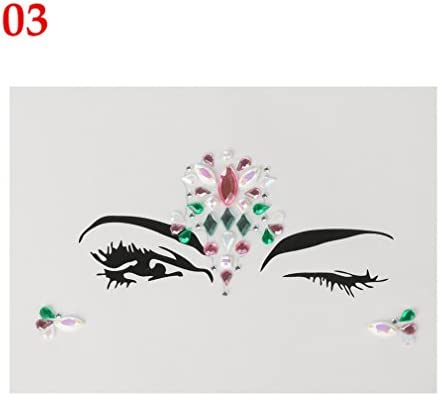 Amazon.com   1PC New Face Jewels Makeup Adhesive Face Jewels Gems Temporary  Tattoo Festival Party Body Gems Rhinestone Flash Tattoos Stickers 3   Beauty 3040302c6cfe