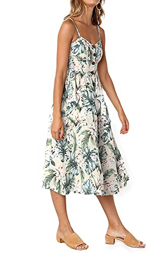 Minipeach Women's Elegant Spaghetti Straps Sleeveless Sexy V neck Floral Chiffon Club Party Dress