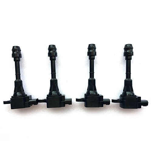 Motorhot Pack of 4 Ignition Coil on Plug for 02-06 Nissan Altima Sentra X-Trail 2.5L L4 Compatible with UF350 UF-350 C1398