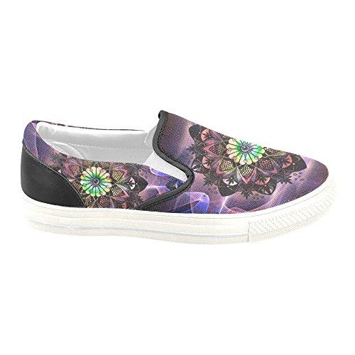 D-story Custom Sneaker Mandala Abstract_flower Mujer - Zapatos De Lona Antideslizantes Inusuales (modelo 019)