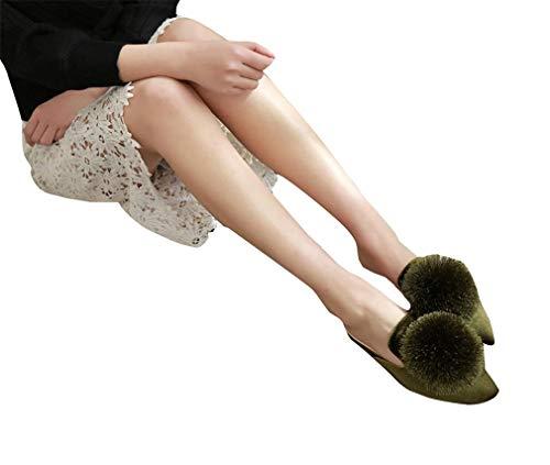 Sandals Rough pour and YUCH Femmes Pantoufles Green XwqgAn07x