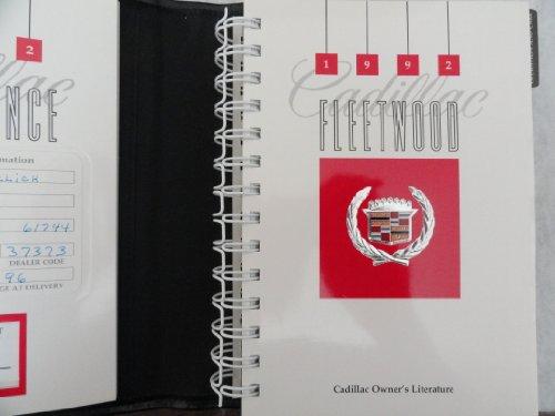 Original 1992 Cadillac Fleetwood Owners Manual