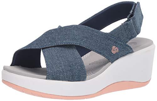 CLARKS Women's Step Cali Cove Sandal Denim Textile 070 W ()