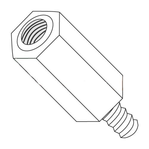 1/4'' OD Hex Standoffs (Male-Female) / 6-32 x 1/2'' / Nylon/Outer Diameter: 1/4'' / Thread Size: 6-32 / Length: 1/2'' (Carton: 1,000 pcs) by Newport Fasteners