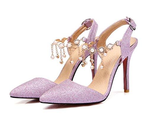 Talloni delle donne YCMDM Primavera Estate Autunno Wedding sintetica di feste ed abito da sera tacco a spillo Perla Rosa Argento Nude , pink , us9.5-10 / eu41 / uk7.5-8 / cn42