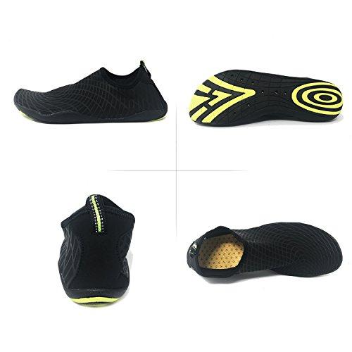 Xylylyl Wasser Schuhe Männer und Frauen multifunktionale leichte flexible atmungsaktiv schnell trocken Strand Aqua Haut Socken Offsetdruck Schwarz