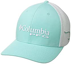 Columbia Unisex Pfg Mesh Ball Cap, Gulf Stream, Hook, Largex-large